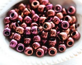Maroon seed beads, TOHO Seed beads, size 6/0, Higher-Metallic Amethyst N 502, rocailles, japanese glass beads - 10g - S546