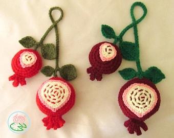 Crochet Pomegranates (Digital Download)