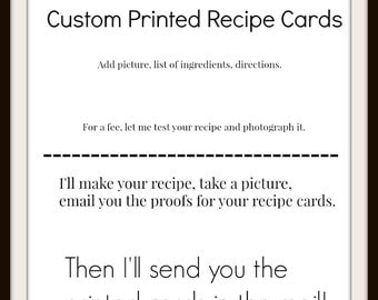 Custom Printed Recipe Cards