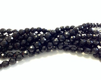 8mm Round Czech faceted fire polished beads
