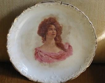 Antique Transferware portrait plate