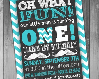 Birthday Invitation Mustache Birthday Invitation Mustache Invitation Mustache Invite Boy Birthday Invitation 1st Birthday First Birthday