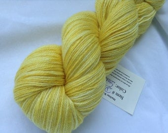 Sunflower - Hearthside Fibers BaaBoo - Superwash Merino/Bamboo/Nylon Hand Dyed Sock Yarn