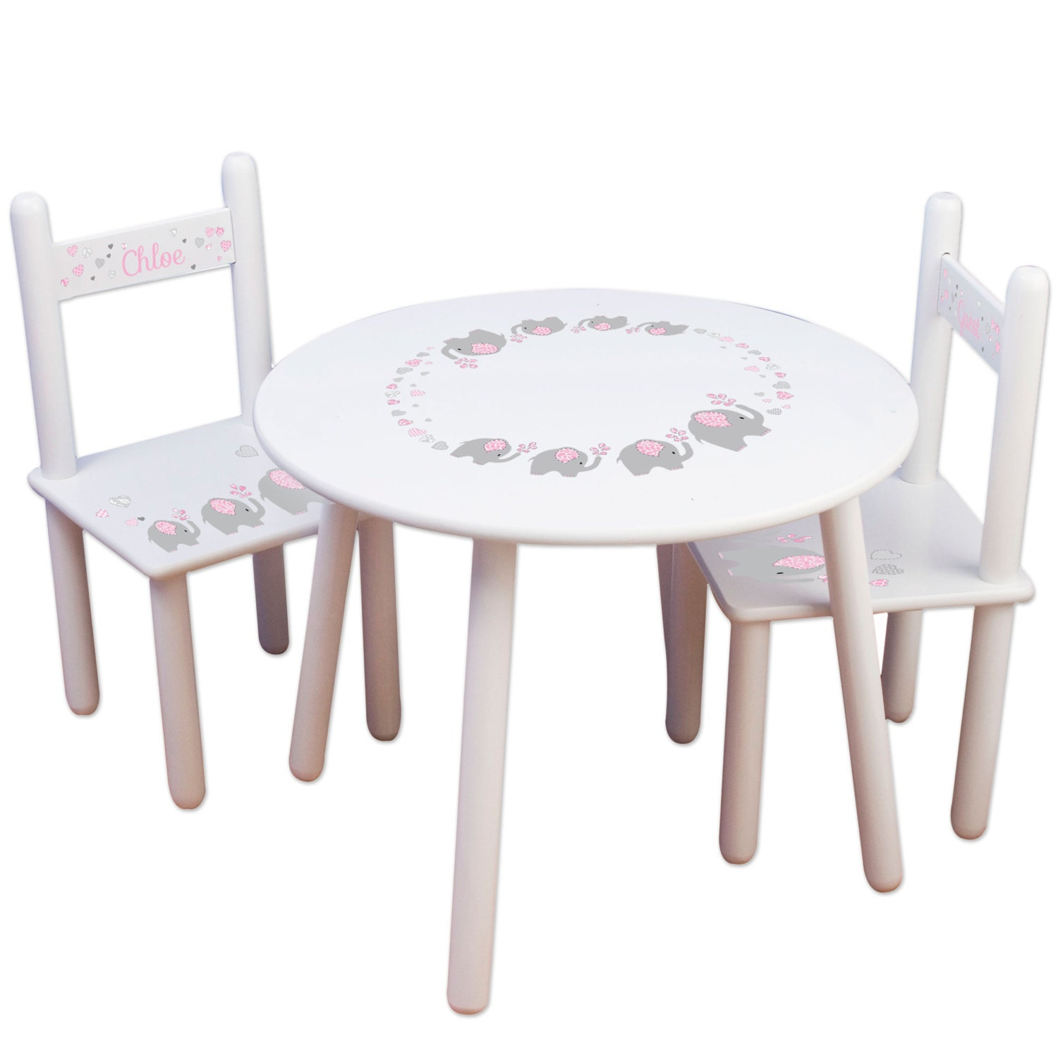 Kids Table and Chair Set Kids Furniture for Elephant Nursery