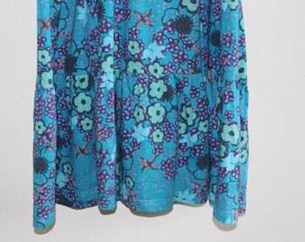 Vintage Dress - retro floral dress - sixties sun dress - 1960s 60s dress- deep v neck - womens vintage clothing