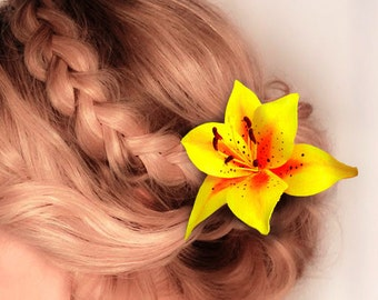 Tiger Lily Hair Clip