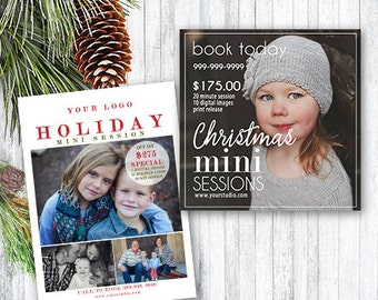 Christmas Mini Session Template - photography marketing template - mini session template - facebook marketing