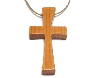 Mens Jewelry Cross, Minimalist Cross Necklace, Cross Necklace Mens, Barnwood Cross, Men's Necklace, Mens Cross Pendant Necklace
