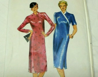 Butterick 6965 Pattern, Asymmetric Wrap Dress