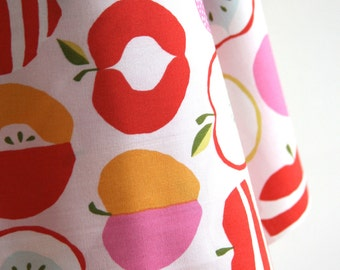 "Organic ""Pink Delicious"" Fabric by designer Monaluna from the Juicy Collection - ONE FAT QUARTER  Cut"