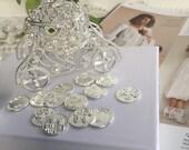 Arras wedding coins, coins wedding arras,  arras coins, Arras para Boda, silver wedding coins Arras and cage, silver tone wedding cage