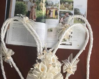 Wedding Lasso,  Lazo for Wedding / Ivory cord  Lazo/ Lazo    para boda / Bridal Lazo /mancuernas para boda, Narelo