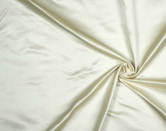 "60"" Wide 100% Silk Duchess Satin Ivory by the yard"