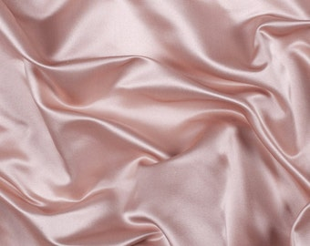 "60"" Wide 100% Silk Duchess Satin Light Pink by the yard"