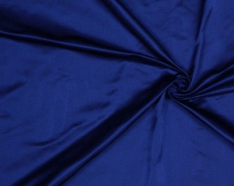 "60"" Wide 100% Silk Duchess Satin Blue by the yard"