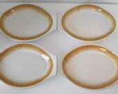 Vintage Jackson China Paul McCobb 'Radiant' 4 Chop Plates