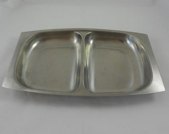 Germetco Sweden 18/8 Stainless Divided Dish