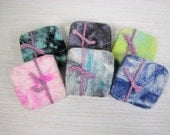 Clearance Sale!! Japanese Cherry Blossom Felted Soap in a sweater - Shea Butter Hand-made