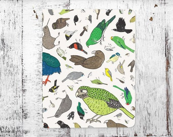 New Zealand Birds Eco-friendly Lined Notebook