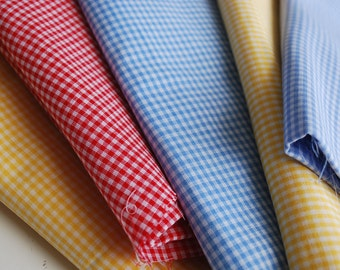 One Pound  Blue Red Yellow Fabric Scraps -- cotton fabric