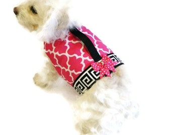 Hot Pink Dog Harness - Custom Dog Harness-Dog Harnesses-Harnesses for Dogs-Dog Clothes-Dog Vest-Dog Coat-Dog Jacket-Custom Dog Clothes