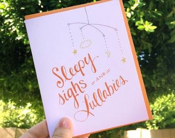 Sleepy Sighs Greeting Card