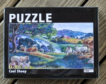 756 piece PUZZLE from the pastel painting Cool Sheep