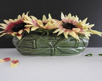 Green USA Art Pottery Bulb Planter