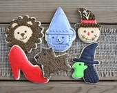 Wizard of Oz Party / Wizard of Oz Gifts / Wizard of Oz Party Favors / Ruby Slipper / Wizard of Oz Sugar Cookie Set - 12 cookies