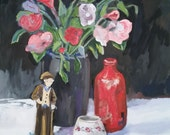 Painting-Oil-The Red Vase-Fine Art by Diann