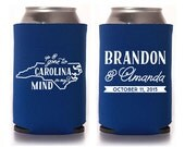 Custom Wedding Favor - Up & Gone to Carolina in My Mind Can Coolers