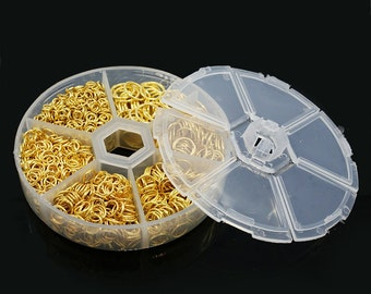 Jump Rings - Assorted Sizes - Gold