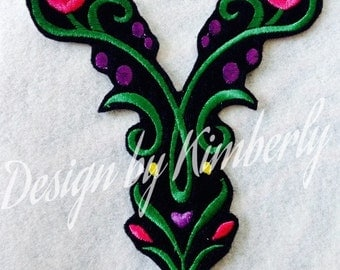 Inspired by Anna's Dress Detail Embroidery Design Iron on Appliqué. Choice of Size