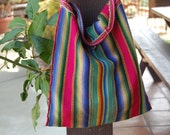 Vintage stripped slouchy market bag tote purse beach Bohemian hippie boho