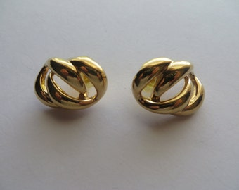 Vintage Napier Gold Tone Pierce Earrings