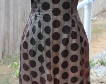 Vintage Rock a Billy 1960's Polka Dot Wiggle Dress with Matching Swing Jacket