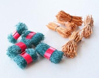 10 Miniature Scrubs - Scouring Pads - Scouring Brush