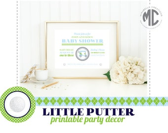 Little Putter Golf Figital Printable Party Collection -- Mirabelle Creations