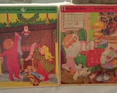 Two large vintage Santa Christmas puzzles