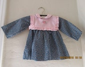 Brand new with tags baby girl 1980's vintage dress, size 12 months