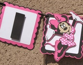 Minnie Mouse, I AM 1. Highchair Banner, Birthday Banner. Photo Prop. Happy Birthday Banner.