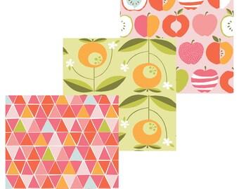 Juicy - Half Yard Bundle of 3 CANVAS prints - Organic Cotton - Monaluna Fabrics (JU-HYC Bundle)