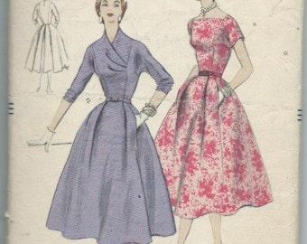 Vintage 1950s Misses' One Piece Dress Sewing Pattern Vogue 8534