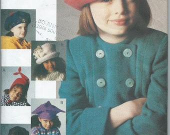 Vintage 1993 Children's Hats Sewing Pattern Vogue Accessories 8831