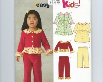 New Look Toddler Girl's Sewing Pattern Dress, Top & Pants (2006)