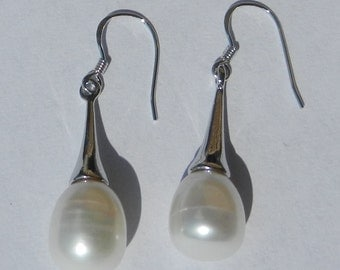 Natural Akoya Pearl Earrings Solid 925 Sterling Silver