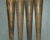 Lot of 4 Vintage Solid Oak Turnings - Great for Legs!