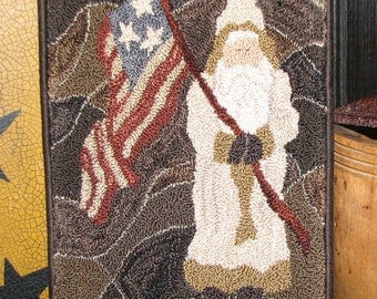 Goos Nest St. Nick's Old Glory Punchneedle Embroidery Pattern