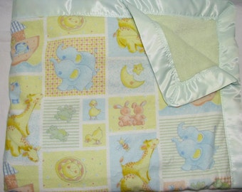 Satin baby blanket, Minky blanket, Baby Blanket, nursery gift, Security Blanket, Satin Trim Blanket, Baby shower gift, toddler blanket