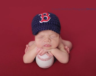 Baby Boy, crochet Boston Red Sox Baseball Cap, Diaper Cover,,,,Crochet Newborn hat,,,,Newborn   Photography Prop